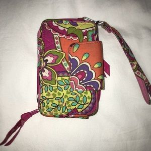 VERA BRADLEY WRISTLET WITH PHONE POCKET!